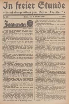 """In Freier Stunde : Unterhaltungsbeilage zum """"Posener Tageblatt"""". Jg.3, Nr. 226 (2 Oktober 1929)"""