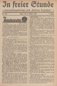 """In Freier Stunde : Unterhaltungsbeilage zum """"Posener Tageblatt"""". Jg.3, Nr. 228 (4 Oktober 1929)"""