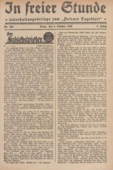 """In Freier Stunde : Unterhaltungsbeilage zum """"Posener Tageblatt"""". Jg.3, Nr. 229 (5 Oktober 1929)"""