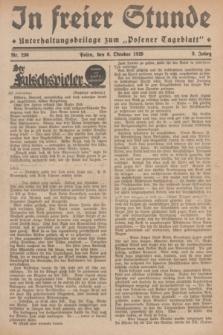 """In Freier Stunde : Unterhaltungsbeilage zum """"Posener Tageblatt"""". Jg.3, Nr. 230 (6 Oktober 1929)"""