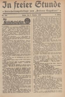 """In Freier Stunde : Unterhaltungsbeilage zum """"Posener Tageblatt"""". Jg.3, Nr. 231 (8 Oktober 1929)"""
