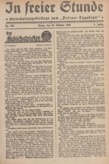 """In Freier Stunde : Unterhaltungsbeilage zum """"Posener Tageblatt"""". Jg.3, Nr. 233 (10 Oktober 1929)"""