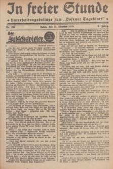 """In Freier Stunde : Unterhaltungsbeilage zum """"Posener Tageblatt"""". Jg.3, Nr. 234 (11 Oktober 1929)"""
