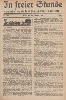 """In Freier Stunde : Unterhaltungsbeilage zum """"Posener Tageblatt"""". Jg.3, Nr. 236 (13 Oktober 1929)"""