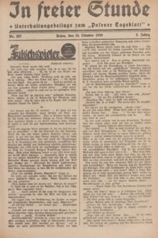 """In Freier Stunde : Unterhaltungsbeilage zum """"Posener Tageblatt"""". Jg.3, Nr. 237 (15 Oktober 1929)"""