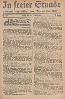 """In Freier Stunde : Unterhaltungsbeilage zum """"Posener Tageblatt"""". Jg.3, Nr. 240 (18 Oktober 1929)"""