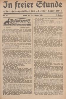 """In Freier Stunde : Unterhaltungsbeilage zum """"Posener Tageblatt"""". Jg.3, Nr. 241 (19 Oktober 1929)"""