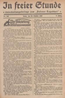 """In Freier Stunde : Unterhaltungsbeilage zum """"Posener Tageblatt"""". Jg.3, Nr. 242 (20 Oktober 1929)"""