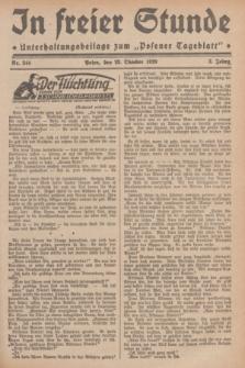 """In Freier Stunde : Unterhaltungsbeilage zum """"Posener Tageblatt"""". Jg.3, Nr. 244 (23 Oktober 1929)"""