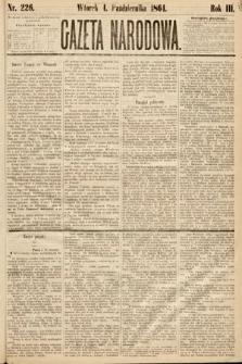 Gazeta Narodowa. 1864, nr226