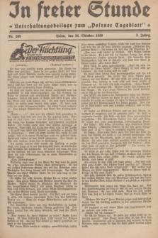 """In Freier Stunde : Unterhaltungsbeilage zum """"Posener Tageblatt"""". Jg.3, Nr. 245 (24 Oktober 1929)"""
