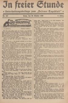 """In Freier Stunde : Unterhaltungsbeilage zum """"Posener Tageblatt"""". Jg.3, Nr. 247 (26 Oktober 1929)"""