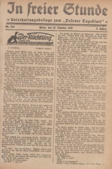 """In Freier Stunde : Unterhaltungsbeilage zum """"Posener Tageblatt"""". Jg.3, Nr. 248 (27 Oktober 1929)"""
