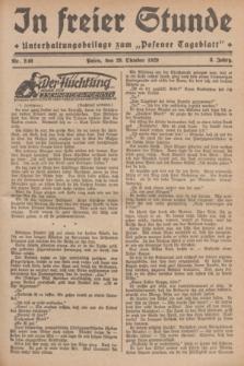 """In Freier Stunde : Unterhaltungsbeilage zum """"Posener Tageblatt"""". Jg.3, Nr. 249 (29 Oktober 1929)"""