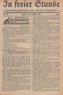 """In Freier Stunde : Unterhaltungsbeilage zum """"Posener Tageblatt"""". Jg.3, Nr. 250 (30 Oktober 1929)"""