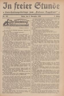 """In Freier Stunde : Unterhaltungsbeilage zum """"Posener Tageblatt"""". Jg.3, Nr. 253 (3 November 1929)"""