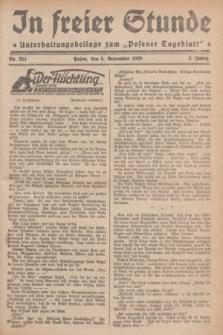 """In Freier Stunde : Unterhaltungsbeilage zum """"Posener Tageblatt"""". Jg.3, Nr. 254 (5 November 1929)"""