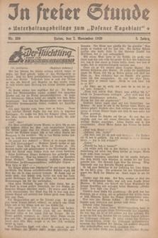 """In Freier Stunde : Unterhaltungsbeilage zum """"Posener Tageblatt"""". Jg.3, Nr. 256 (7 Noveber 1929)"""