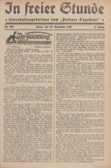 """In Freier Stunde : Unterhaltungsbeilage zum """"Posener Tageblatt"""". Jg.3, Nr. 259 (10 November 1929)"""
