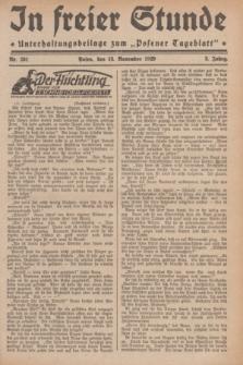 """In Freier Stunde : Unterhaltungsbeilage zum """"Posener Tageblatt"""". Jg.3, Nr. 261 (13 November 1929)"""