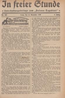"""In Freier Stunde : Unterhaltungsbeilage zum """"Posener Tageblatt"""". Jg.3, Nr. 262 (14 November 1929)"""