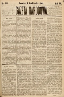 Gazeta Narodowa. 1864, nr228