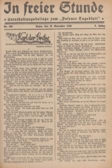 """In Freier Stunde : Unterhaltungsbeilage zum """"Posener Tageblatt"""". Jg.3, Nr. 266 (19 November 1929)"""