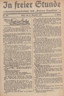 """In Freier Stunde : Unterhaltungsbeilage zum """"Posener Tageblatt"""". Jg.3, Nr. 268 (21 November 1929)"""