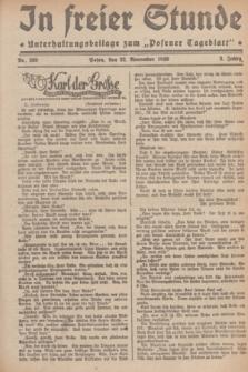 """In Freier Stunde : Unterhaltungsbeilage zum """"Posener Tageblatt"""". Jg.3, Nr. 269 (22 November 1929)"""
