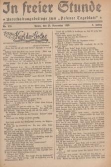 """In Freier Stunde : Unterhaltungsbeilage zum """"Posener Tageblatt"""". Jg.3, Nr. 270 (23 November 1929)"""
