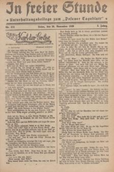 """In Freier Stunde : Unterhaltungsbeilage zum """"Posener Tageblatt"""". Jg.3, Nr. 272 (26 November 1929)"""
