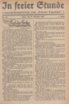 """In Freier Stunde : Unterhaltungsbeilage zum """"Posener Tageblatt"""". Jg.3, Nr. 273 (27 November 1929)"""