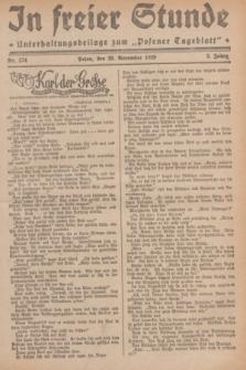 """In Freier Stunde : Unterhaltungsbeilage zum """"Posener Tageblatt"""". Jg.3, Nr. 274 (28 November 1929)"""
