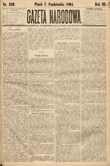 Gazeta Narodowa. 1864, nr229