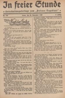 """In Freier Stunde : Unterhaltungsbeilage zum """"Posener Tageblatt"""". Jg.3, Nr. 276 (30 November 1929)"""
