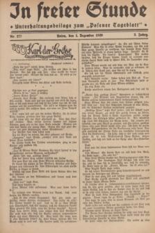 """In Freier Stunde : Unterhaltungsbeilage zum """"Posener Tageblatt"""". Jg.3, Nr. 277 (1 Dezember 1929)"""