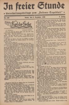 """In Freier Stunde : Unterhaltungsbeilage zum """"Posener Tageblatt"""". Jg.3, Nr. 278 (3 December 1929)"""