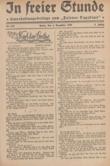 """In Freier Stunde : Unterhaltungsbeilage zum """"Posener Tageblatt"""". Jg.3, Nr. 279 (4 Dezember 1929)"""