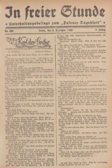 """In Freier Stunde : Unterhaltungsbeilage zum """"Posener Tageblatt"""". Jg.3, Nr. 280 (5 Dezember 1929)"""