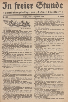 """In Freier Stunde : Unterhaltungsbeilage zum """"Posener Tageblatt"""". Jg.3, Nr. 283 (8 Dezmber 1929)"""