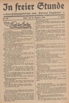 """In Freier Stunde : Unterhaltungsbeilage zum """"Posener Tageblatt"""". Jg.3, Nr. 284 (10 Dezember 1929)"""