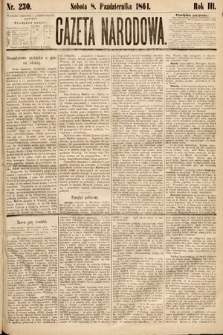 Gazeta Narodowa. 1864, nr230