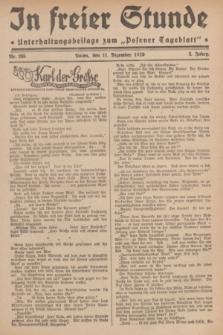 """In Freier Stunde : Unterhaltungsbeilage zum """"Posener Tageblatt"""". Jg.3, Nr. 285 (11 Dezember 1929)"""