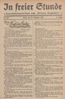 """In Freier Stunde : Unterhaltungsbeilage zum """"Posener Tageblatt"""". Jg.3, Nr. 287 (13 Dezember 1929)"""