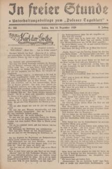 """In Freier Stunde : Unterhaltungsbeilage zum """"Posener Tageblatt"""". Jg.3, Nr. 288 (14 Dezember 1929)"""