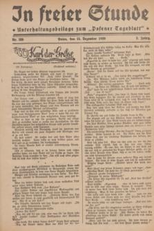 """In Freier Stunde : Unterhaltungsbeilage zum """"Posener Tageblatt"""". Jg.3, Nr. 289 (15 Dezember 1929)"""