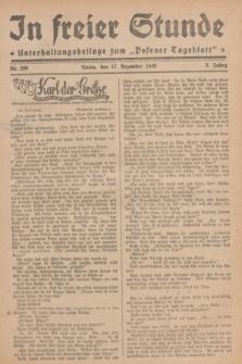 """In Freier Stunde : Unterhaltungsbeilage zum """"Posener Tageblatt"""". Jg.3, Nr. 290 (17 Dezember 1929)"""