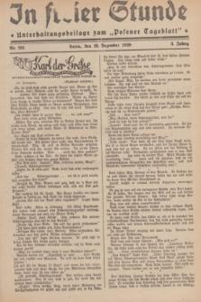 """In Freier Stunde : Unterhaltungsbeilage zum """"Posener Tageblatt"""". Jg.3, Nr. 291 (18 Dezember 1929)"""