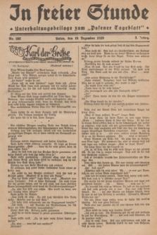 """In Freier Stunde : Unterhaltungsbeilage zum """"Posener Tageblatt"""". Jg.3, Nr. 292 (19 Dezember 1929)"""