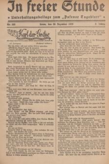 """In Freier Stunde : Unterhaltungsbeilage zum """"Posener Tageblatt"""". Jg.3, Nr. 293 (20 Dezember 1929)"""